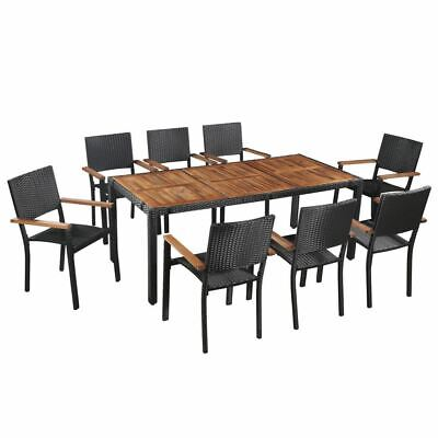 AU749.95 • Buy 9 Pcs Rattan Dining Set Elegant Stylish Outdoor Dinner Table And Chair Furniture