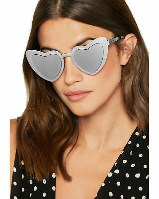 £209.40 • Buy 🍀SAINT LAURENT LOULOU YSL SL196  Black Silver Heart Oversized Sunglasses 55mm
