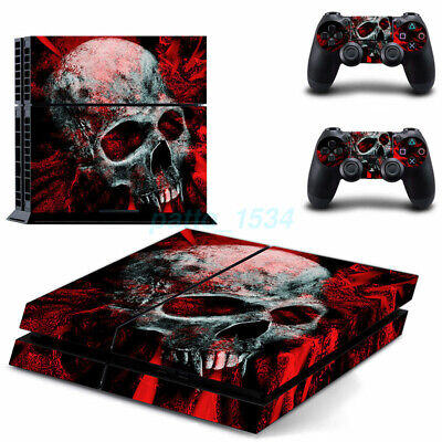AU20.25 • Buy AU Skull Sticker Cover Wrap Skin Decal For PS4   4 Console Controller 2021