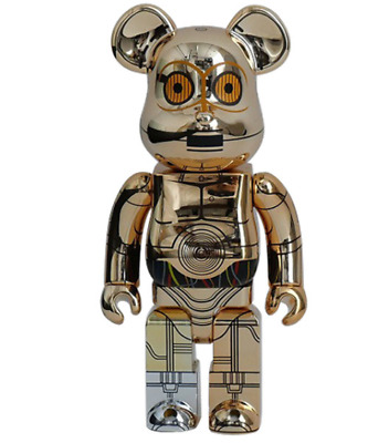 $680 • Buy Bearbrick BE@RBRICK 400% Star Wars C3Po 1000 Limited Collabo Initial Stussy