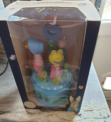 £25 • Buy Beatrix Potter Peter Rabbit Wooden Turning Toy Musical Carousel Collectable