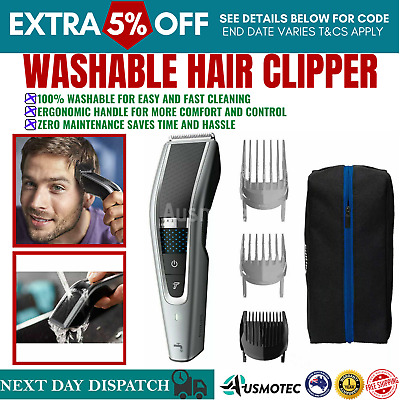 AU96.01 • Buy Philips 5000 Series HC5630 Washable Hair Clipper Trimmer Cordless Rechargeable