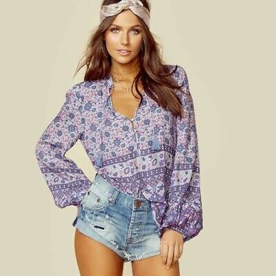 AU133 • Buy Spell And The Gypsy Collective Kombi Lavender Blouse L Large