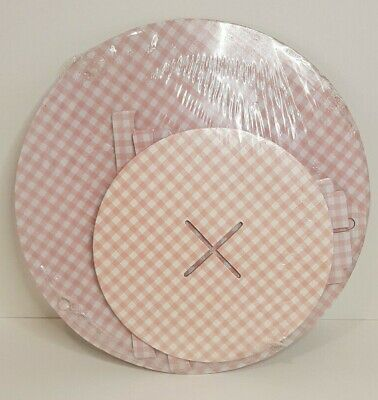 £4.99 • Buy 2-Tier Cupcake/ Muffin Cake Stand Serving Display Pink Gingham Checked By Tiger