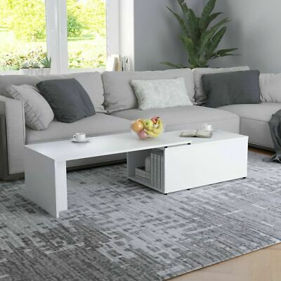 AU89.95 • Buy Stylish Coffee Table With Storage Chipboard Extending Tabletop Home Furniture