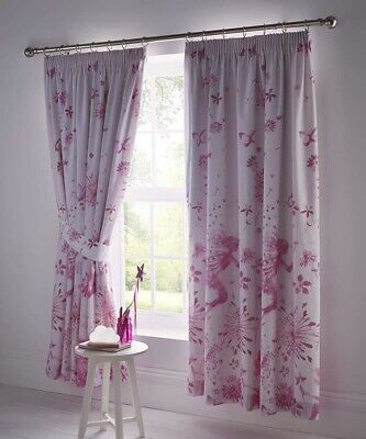 £28.95 • Buy Fairy Princess Childrens Girls Curtains 72  Drop X 66  Wide Bedroom Drapes