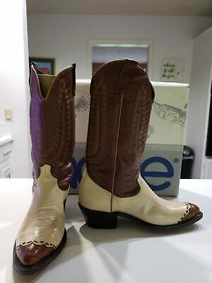 $125 • Buy Vintage Acme Lucchese Inc.  Men's Size 9 D Leather Western Cowboy Boots Brown
