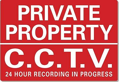 £4.99 • Buy METAL SIGN Private Property CCTV In Operation 24 Hour Recording