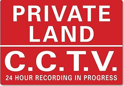 £4.99 • Buy METAL SIGN Private Land CCTV In Operation 24 Hour Recording