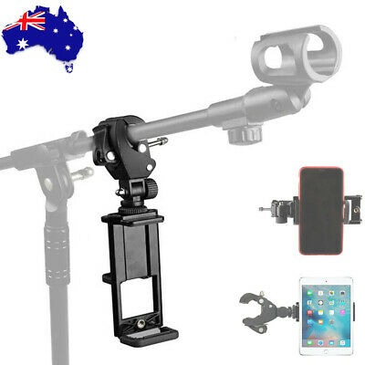 AU19.94 • Buy Adjustable Tablet PC Ipad / Cell Smart Phone Mount Holder For Microphone Stand 1