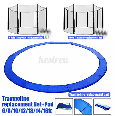 AU36.68 • Buy 6/8/10/12/14/16Ft Replacement Outdoor Round Trampoline Safety Spring Pad Cover W