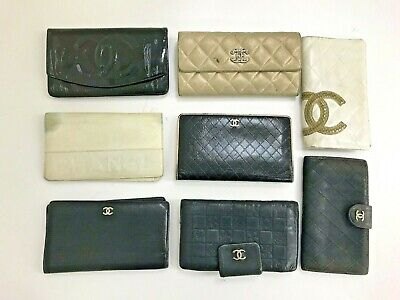 $ CDN1.21 • Buy Authentic Vintage Chanel Lambskin Patent Black Leather Python Long Coin Wallet