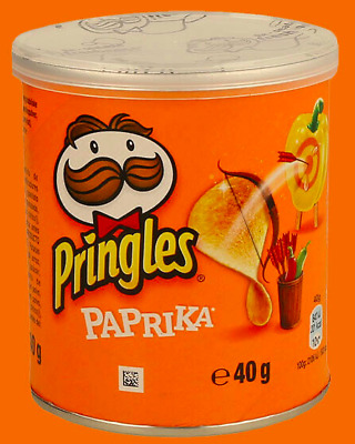 £8.99 • Buy Pringles Paprika Flavour Crisps 12 Or 24 X 40g Tub OUT OF DATE 03/05/21
