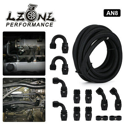 AU71.25 • Buy AN8 8AN Oil/Gas/Fuel Hose End Fitting Hose Separator Braided Fuel Line 0.43''
