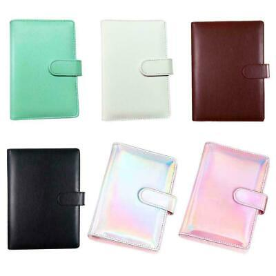 AU10.68 • Buy A5/A6 Leather Loose-Leaf Ring-Binder-Notebook Macaron Colour Diary Planner U8H5