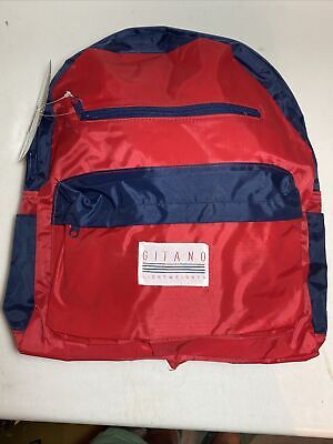 AU24.50 • Buy Vintage 80s Gitano Backpack NWT * NOS Lightweight Colorblock Retro Book Bag. NEW