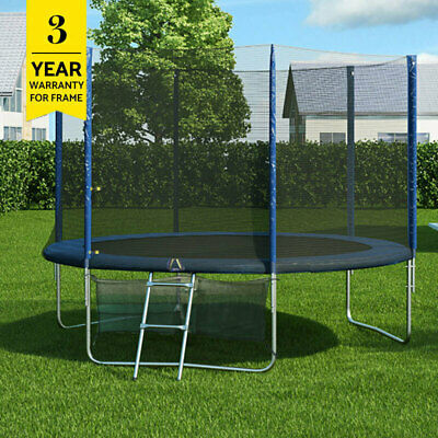 AU189 • Buy 8Ft Round Spring Trampoline With Ladder Safety Net Enclosure Mat Swo
