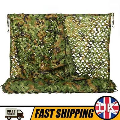 £16.50 • Buy 3mx5m Woodland Army Camouflage Netting Hunting Shooting Hide Military Camo Net
