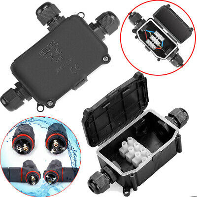 £7.58 • Buy Waterproof Junction Box Case Electrical Cable Wire Connector Outdoor Ip66 Ip68