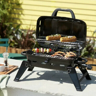 $ CDN103.40 • Buy Portable Gas Grill BBQ Camping Outdoor Garden Steel Black 🚚 Free Delivery 🚚