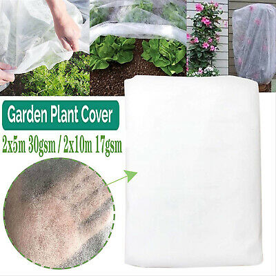 £9.98 • Buy 2Mx10M GARDEN FLEECE PLANT PROTECTION WHITE HORTICULTURAL COVER FROST HEAVY DUTY