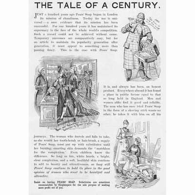 £12.95 • Buy PEARS SOAP (The Tale Of A Century) Victorian Advertisement 1890