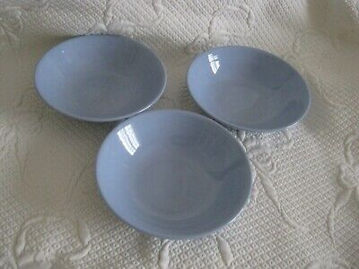 £20 • Buy Woods Ware Iris Blue Soup Or Cereal Bowls X 3