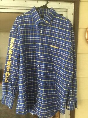 $23.89 • Buy RESISTOL Rodeo Gear Men's Western Long Sleeve Plaid Cotton Shirt XL Embroidered