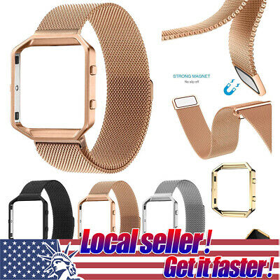 $ CDN13.29 • Buy For Fitbit Blaze Smart Watch Replacement Milanese Loop Strap Wrist Band & Frame