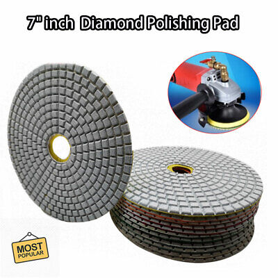 AU17.88 • Buy 7   Wet/Dry Diamond Polishing Pads Sanding Disc Marble Granite Glass Concrete AU