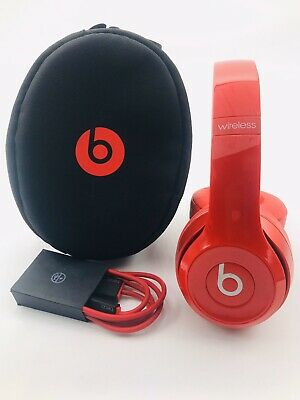 $ CDN89 • Buy Beats Solo 2 Wireless Headphones Gloss Red — Authentic — Clean!