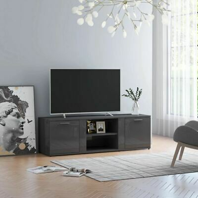 AU88.95 • Buy Modern TV Unit Stand With Storage Cabinet High Gloss Entertainment Center Rack