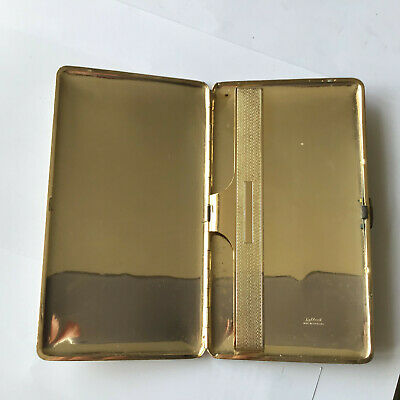 Vintage Tallent White Leather And Gold Metal Cigarette Case Circa 1950's • 7.50£