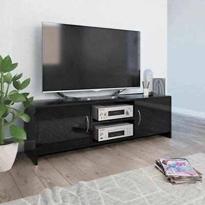 AU72.95 • Buy Stylish TV Stand Rack With 2 Doors Stereo Entertainment Unit Cabinet High Gloss