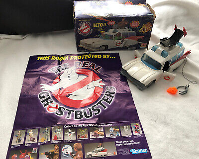 Vintage 1984 The Real Ghostbusters - Ecto 1 With Original Ghost And Poster. • 130£