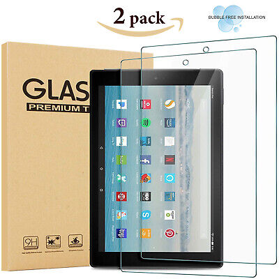 £5.45 • Buy For AMAZON KINDLE FIRE HD 10.1  Tempered Glass Screen Protector 100% Genuine