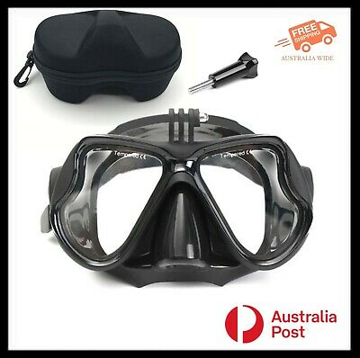 AU34.95 • Buy Adjustable Dive Mask With Fixed Action Camera GoPro Mount, Case & Screw AU Stock
