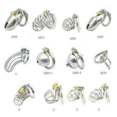 £10.25 • Buy Stainless Steel Metal Chastity Cage Device Restraint Spiked-ring With Lock Male