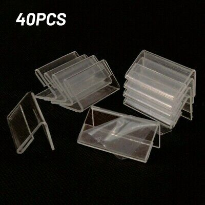 £7.19 • Buy 40pcs Clear Plastic Label Holders Sign Display Holder For Retail Price