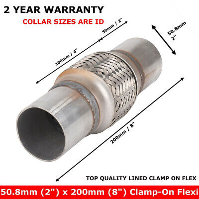 £8.59 • Buy New Exhaust Clamp-on Flexi Tube Joint Flexible Pipe Repair 50 X 200mm UK