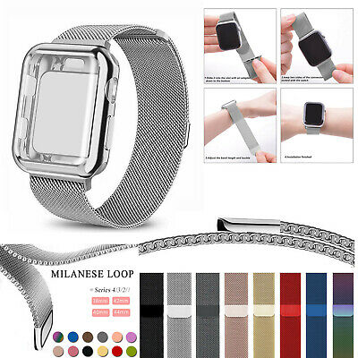 £5.99 • Buy Band Strap+Cover Case For Apple Watch Strap Series SE 6 5 4 3 2 1 38 40 42 44 Mm