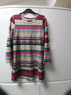 AU8.93 • Buy Boohoo Ladies Jersey Dress Tunic Aztec Size 14