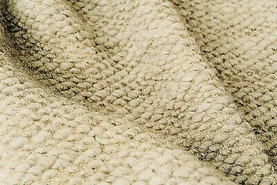 £7.99 • Buy Light Natural Oatmeal Boiled Wool Chunky Seeded Soft Knit Made In Italy Slc108a