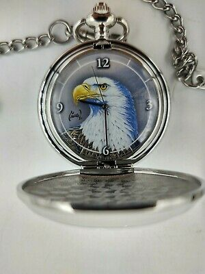 $7.77 • Buy Never Used Avon  Majestic Flight  Al Agnew Exclusive Edition Pocket Watch