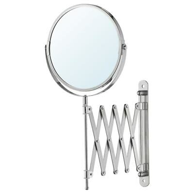 £9.99 • Buy IKEA FRACK Extendable Stainless Steel Wall Round Shave Mirror + Magnifying Glass
