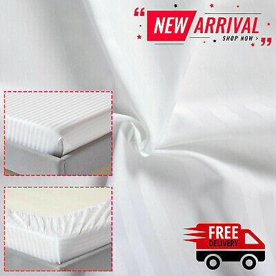 £13.99 • Buy 100% Egyptian Cotton Extra Deep Fitted Sheet 400TC Double Super King Size