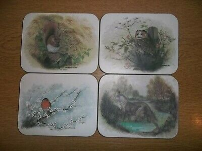 £14.99 • Buy Christopher Scales Wildlife Coasters X4 Including Squirrel, Otter, Owl And Robin