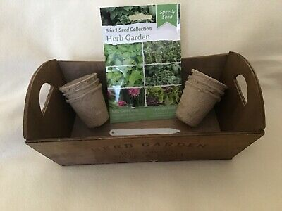 £8.95 • Buy Reduced…grow Your Own Herbs Box Seeds Biodegradable Pots And Labels