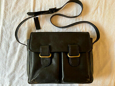 AU25 • Buy EXCELLENT CONDITION BLACK LEATHER OROTON HANDBAG Long Adjustable Strap