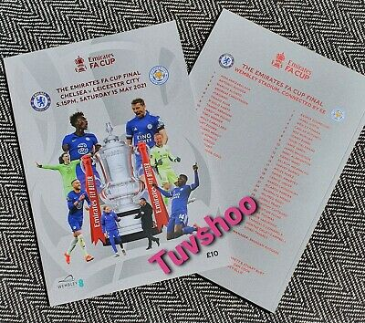 £18.89 • Buy FA CUP FINAL 21 PROGRAMME CHELSEA V LEICESTER CITY 15th May 2021 IMMEDIATE POST